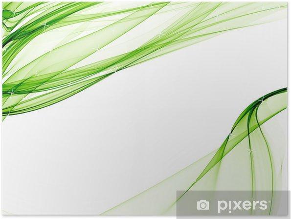 Plakát Elegantní pozadí s měkkými zelenými vzory - Umění a tvorba