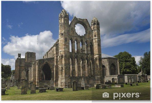 Plakat Elgin Cathedral Ruins i cmentarz - Europa