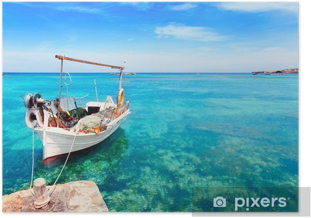Plakat Els Pujols plaży w Formentera - Wakacje