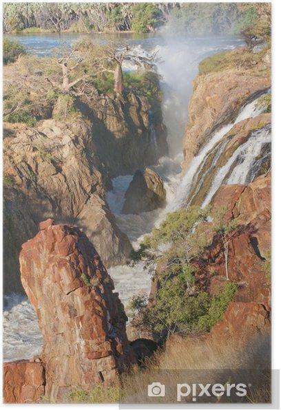 Plakat Epupa wodospady na granicy Angoli i Namibii - Woda