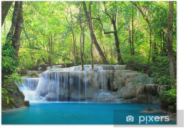 Plakat Erawan wodospad, Kanchanaburi, Tajlandia - Tematy