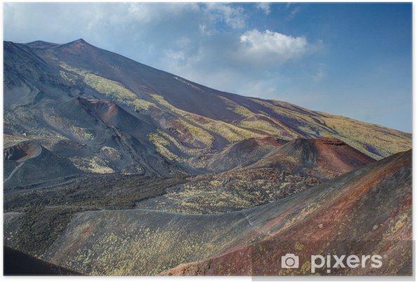 Plakat Etna, zdjęcia do 2300 metrów - Cuda natury
