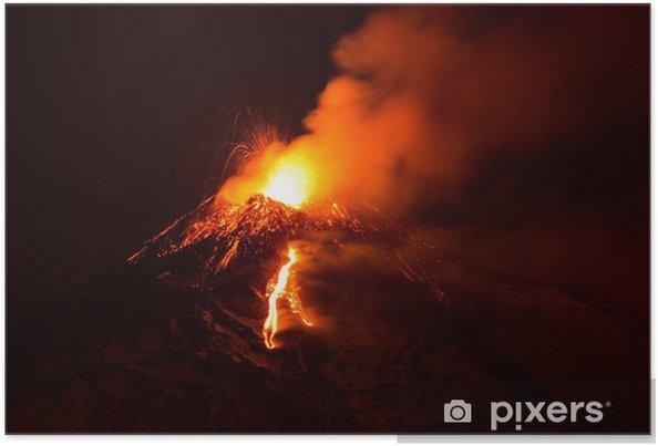 Plakat Etna - Klęski żywiołowe