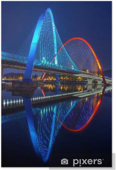 Plakat Expo Most w Daejeon, Korea Południowa. - Podróże