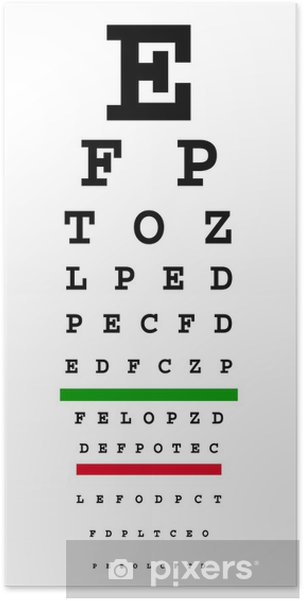 Plakat Eye Chart - Zdrowie i medycyna