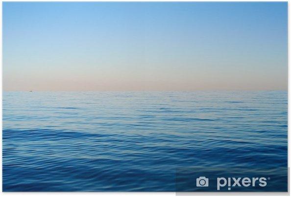 Plakat Fale morskie na tle błękitnego nieba - Krajobrazy