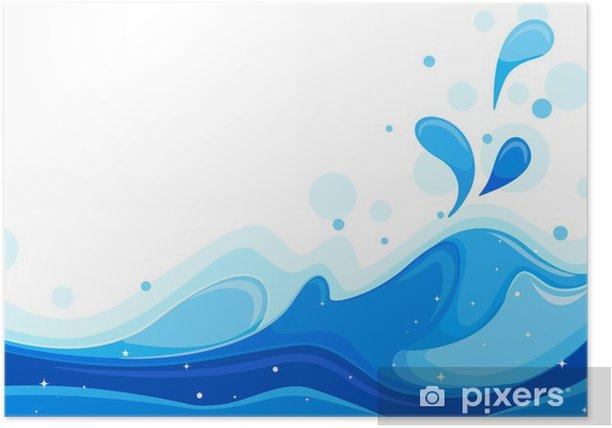Plakat Fale morskie - Naklejki na ścianę