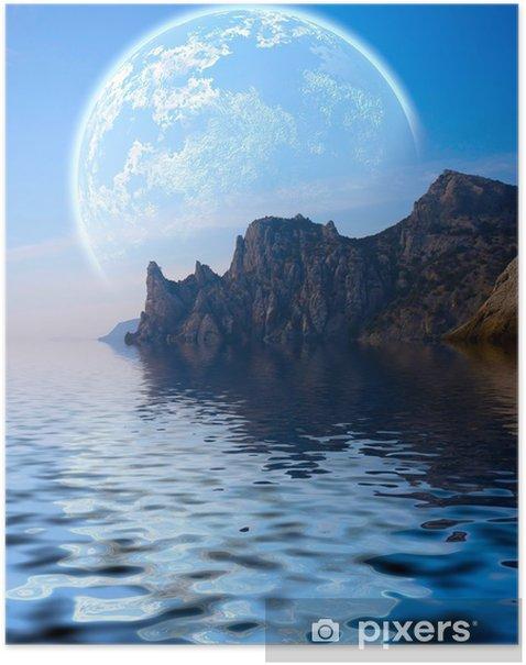 Plakát Fantasy Krajina - Voda