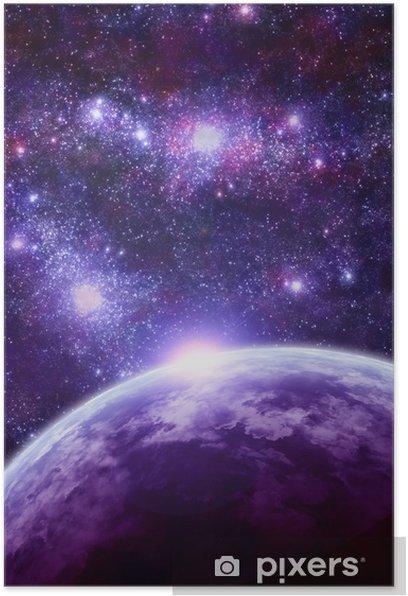 Plakat Fantasy miejsca sceny - Wszechświat