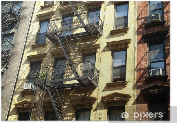 Plakát Fasádní d'immeuble, Soho, NYC - Amerika