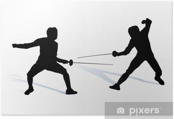 Plakat Fechten - Sporty indywidualne