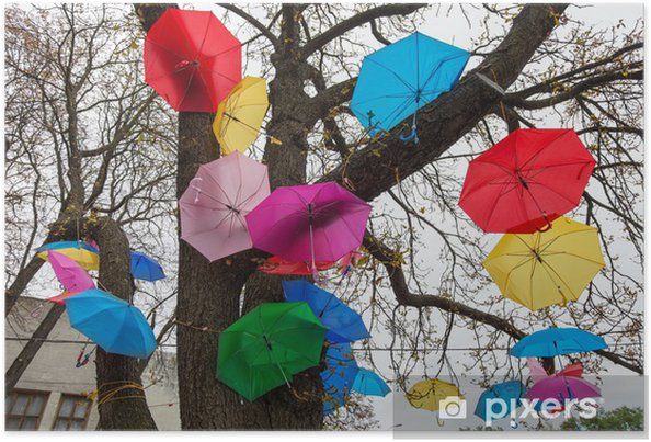 Plakát Festival deštníky - Město