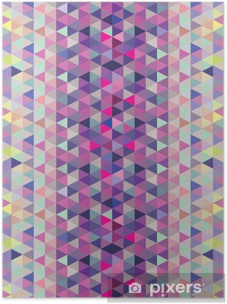 Plakát Fialová a modrý trojúhelník vzor - Pozadí