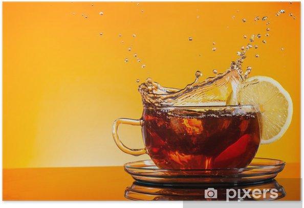 Plakat Filiżanka herbaty - Posiłki