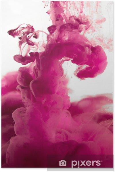 Plakat Fioletowy Barwnik W Wodzie