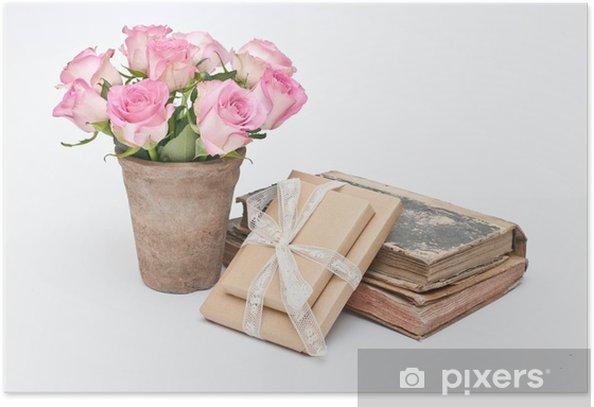 Plakát Fiori, regali e libri - Květiny