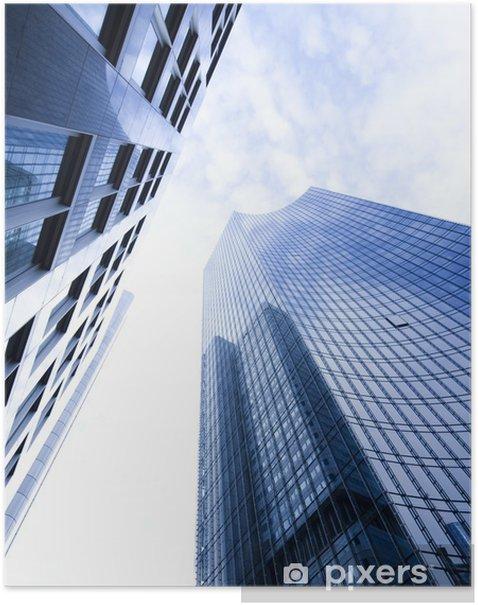 Plakát Firemní budovy v perspektivě. - Soukromé budovy