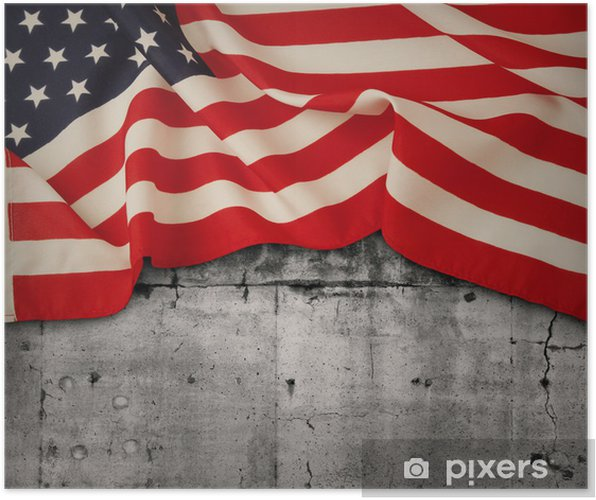 Plakat Flaga amerykańska - Tematy