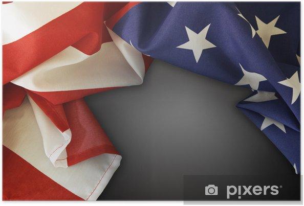 Plakat Flaga amerykańska - Znaki i symbole