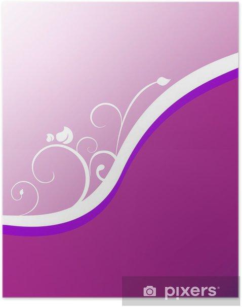 Plakat Floral tle - Tła