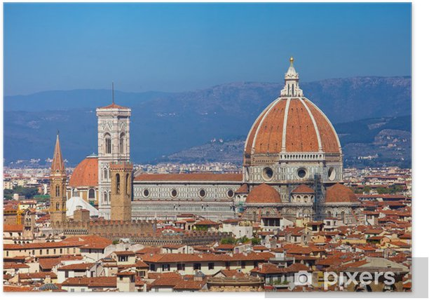 Plakát Florencie Panoráma - Evropa