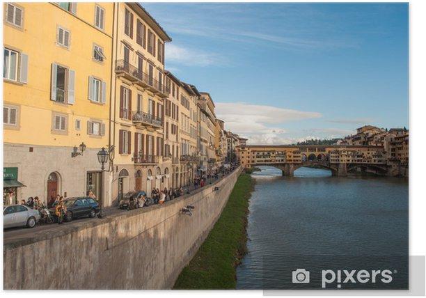 Plakat Florencja i Ponte Vecchio - Wakacje