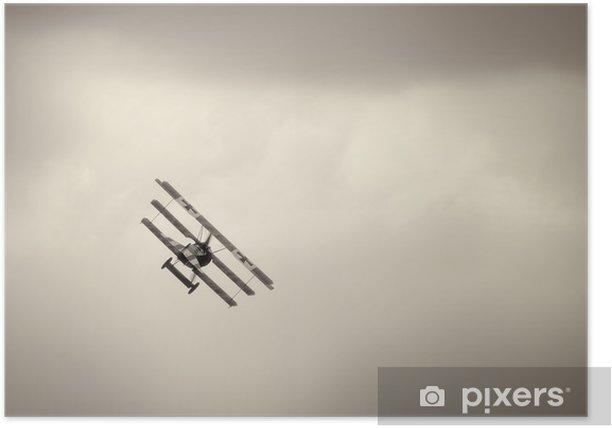 Plakat Fokker Dr.I triplane na niebie - Tematy