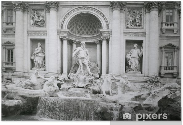 Plakát Fontána di Trevi - Evropská města