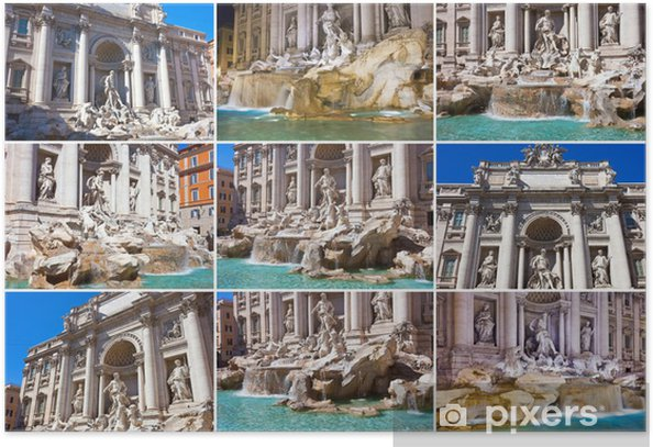 Plakat Fontanna di Trevi - Miasta europejskie