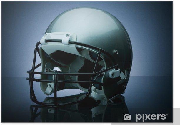 Plakat Football kask - Football amerykański
