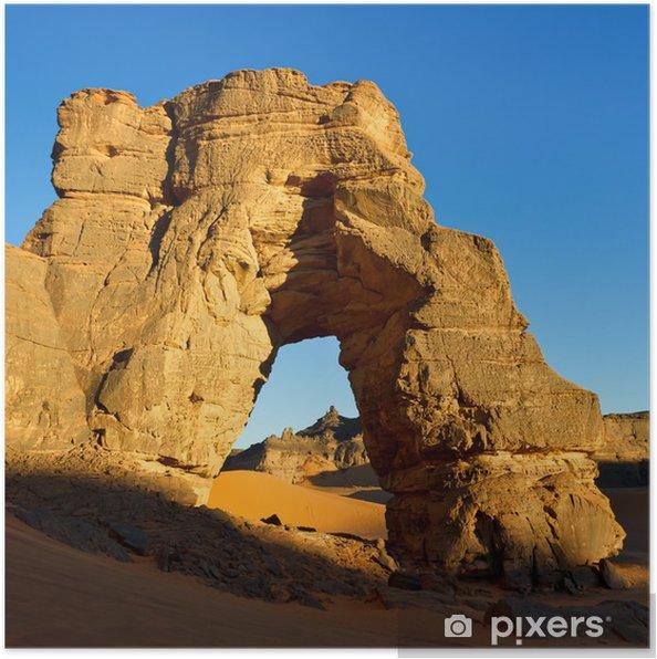 Plakat Forzhaga Arch - Natural Arch Rock - Akakus (Acacus) Góry, S - Tematy