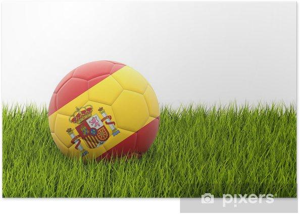 Plakát Fotbal s vlajkou Španělska - Značky a symboly