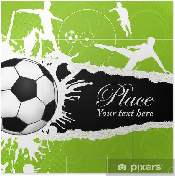 Plakát Fotbalový míč téma - Úspěch