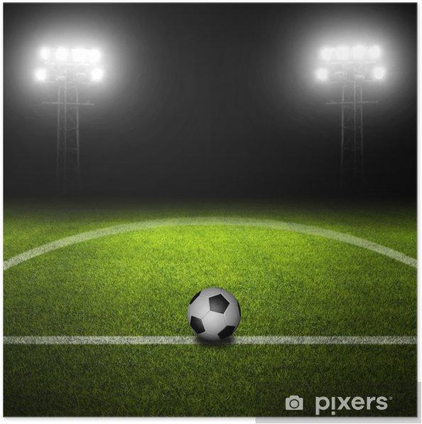 Plakát Fotbalový míč v poli - Týmové sporty