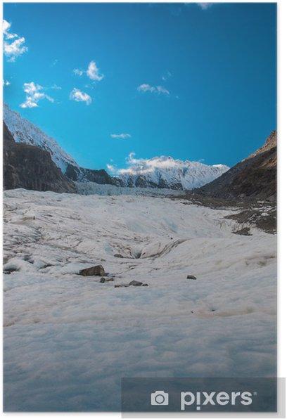 Plakát Fox Glacier na Jižním ostrově - Nový Zéland - Venkov