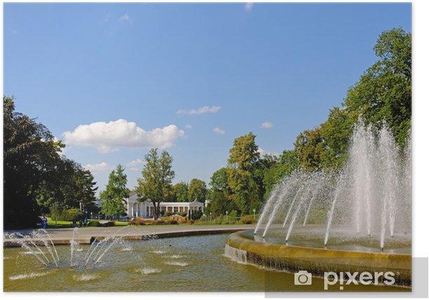 Plakat Foyer, w parku zdrojowym w Bad Oeynhausen - Europa