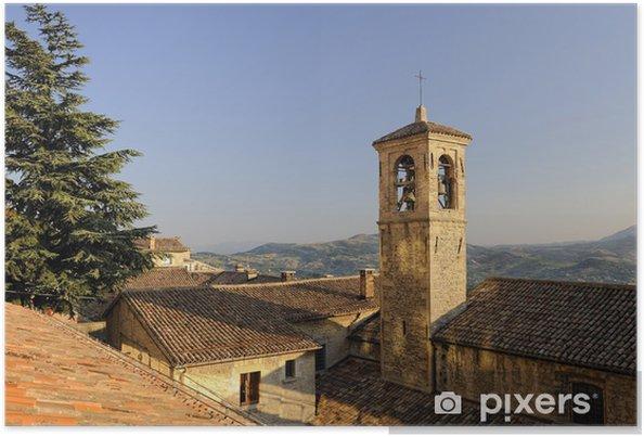 Plakat Franciszek kościół, San Marino, Republika San Marino - Europa