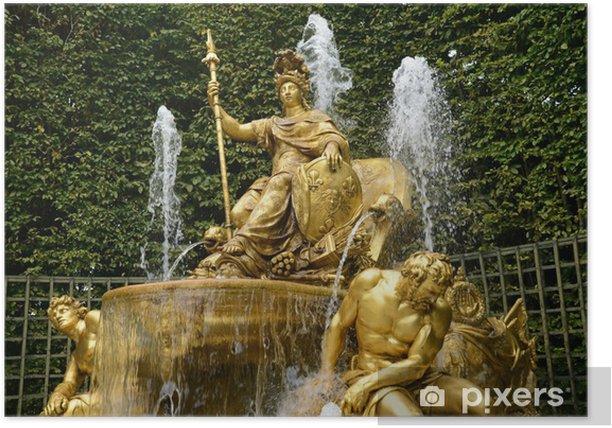 Plakat Francja, Łuk Triumfalny gaj park pałac w Wersalu - Wakacje