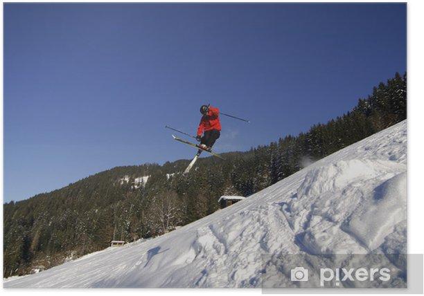 Plakat Freeskiing - Sporty zimowe