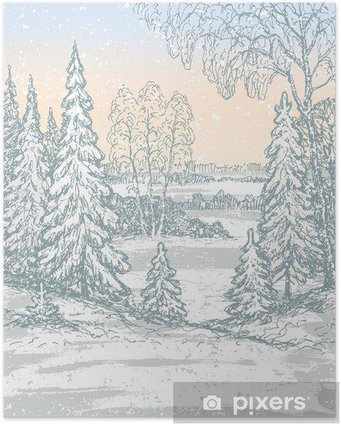 Plakat Frosty Morning - Pory roku