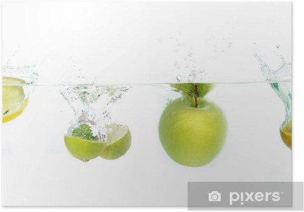Plakat Früchte fallen ins Wasser - Woda