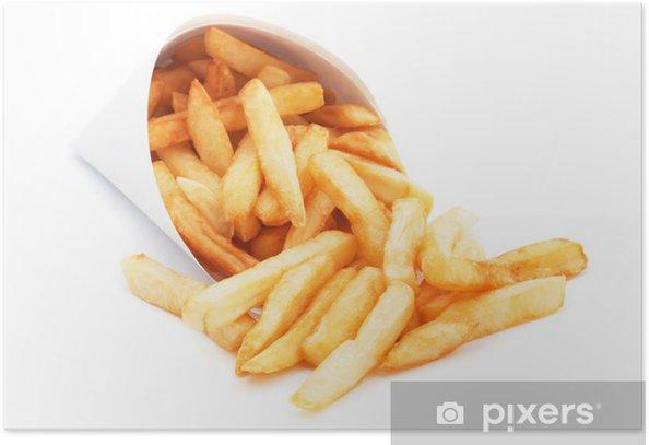 Plakat Frytki Samodzielnie na białym tle - Posiłki