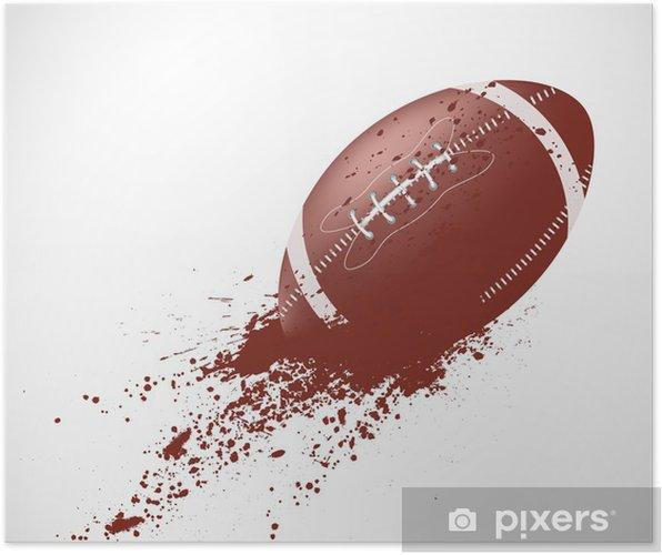 Plakat Futbol amerykański projekt - Rugby