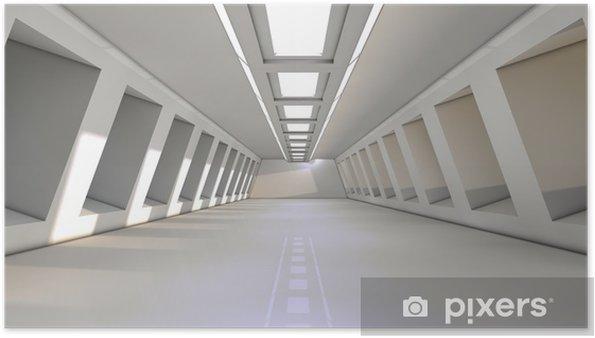 Plakát Futuristický interiér - Čas