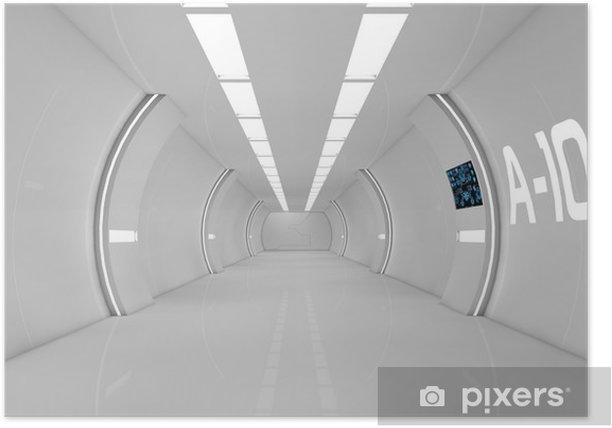 Plakat Futurystyczne wnętrze - Czas