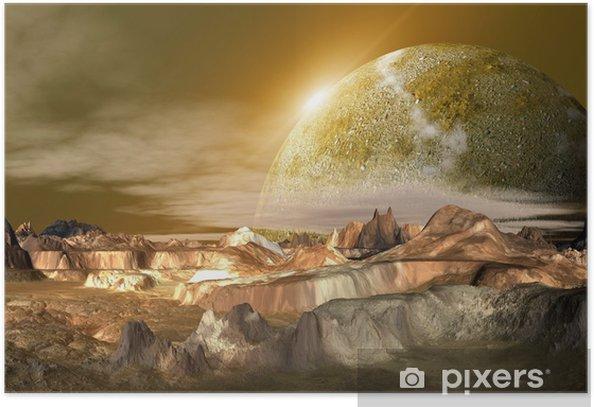Plakat Futurystyczny Alien Planet - Przestrzeń kosmiczna