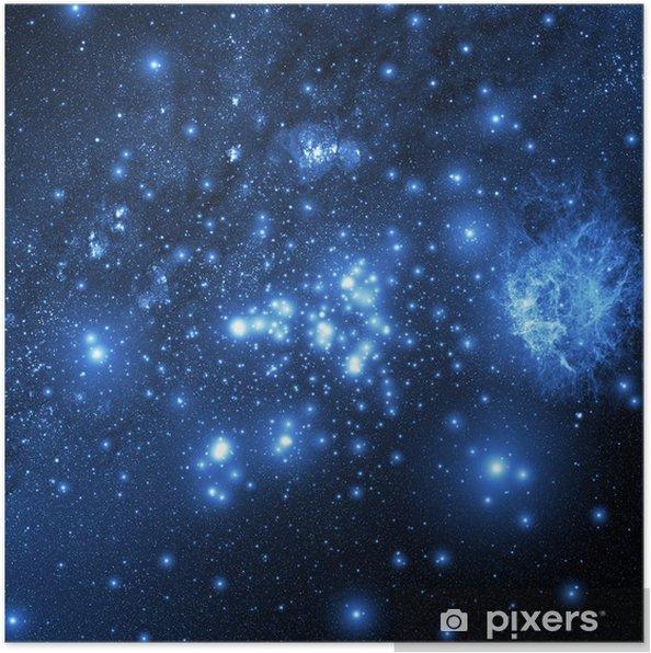 Plakat Galaktyka (Kolaż z obrazami z www.nasa.gov) - Wszechświat