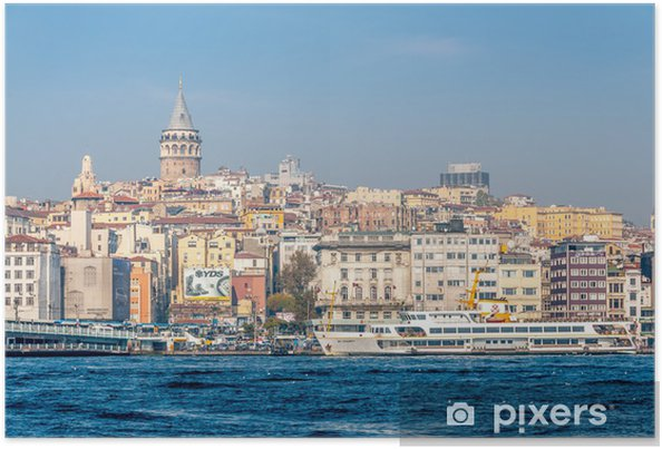 Plakat Galata kwartał Stambule - Europa