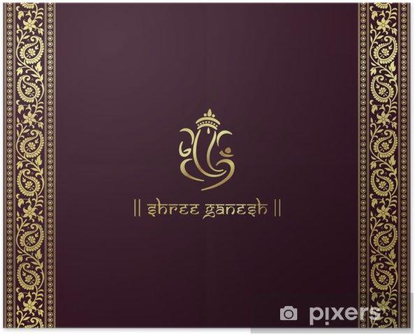Plakat Ganeśa, hindu wedding card, królewski Rajasthan, Indie - Świętowanie