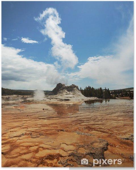 Plakat Gejzer w Yellowstone - Natura i dzicz